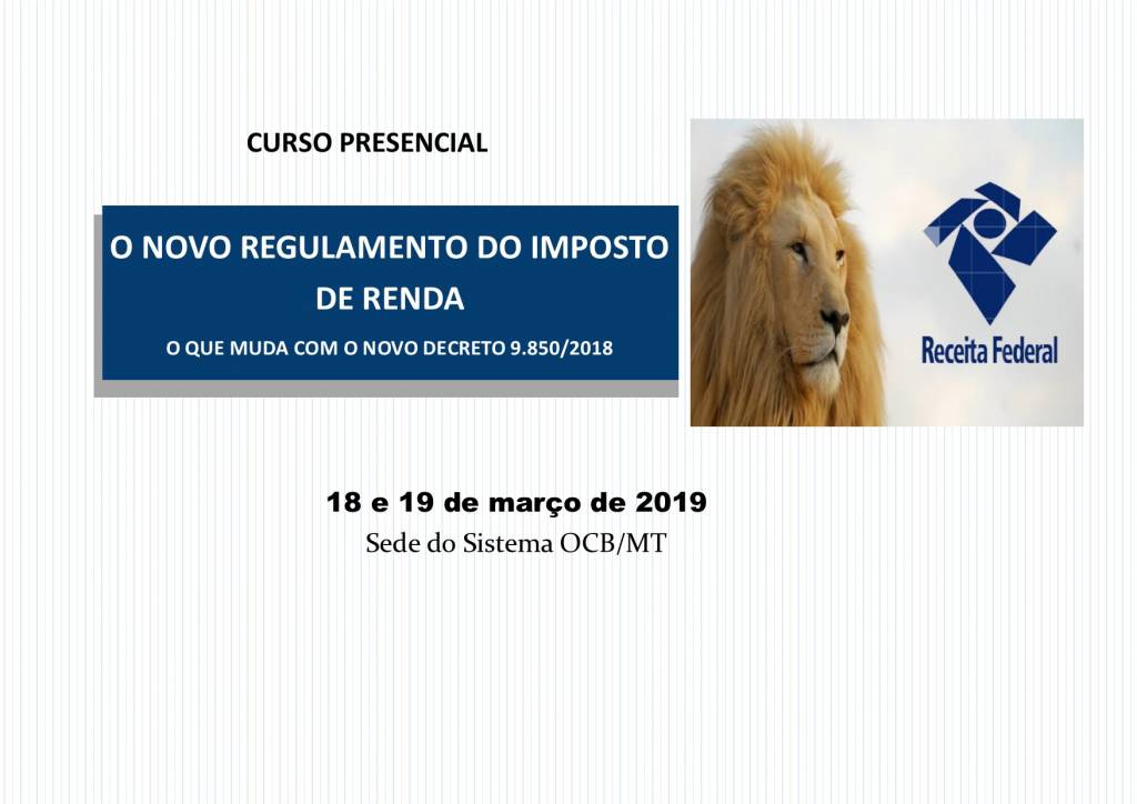 Novo Regulamento do Imposto de Renda